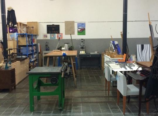 imagen del taller donde imparto los talleres, un precioso espacio luminoso y espacioso